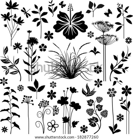 Meadow with reflection - stock vector
