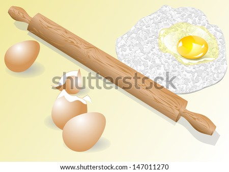 meal and eggs - stock vector