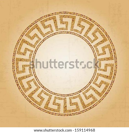 Meander seamless ornament, stone tile pattern, Greek Key Background Pattern, vector - stock vector