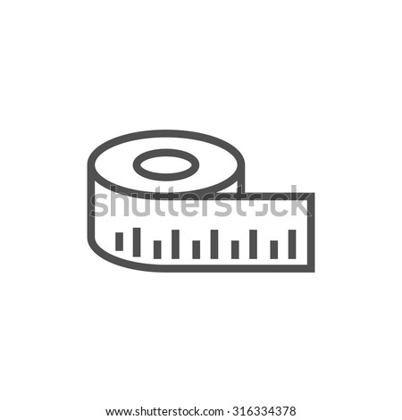 measure icon - stock vector
