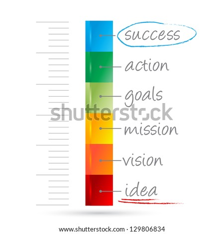 measure of success isolated on white background - stock vector