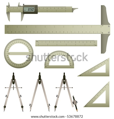 Measurement Instrument Set Vector - stock vector