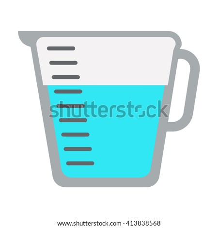 Measuring cup icon. Measuring cup icon vector. Measuring cup icon flat. Measuring cup icon app. Measuring cup icon web. Measuring cup icon logo. Measuring cup icon sign. Measuring cup icon ui. - stock vector