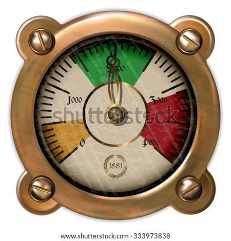 measuring device vector - stock vector