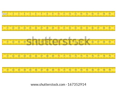 measuring tape for tool roulette vector illustration isolated on white background - stock vector