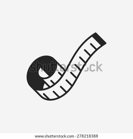 measuring tape icon - stock vector