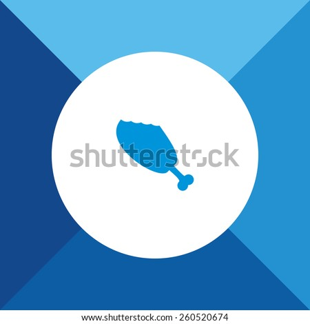 Meat Icon on Blue Background. Eps-10. - stock vector
