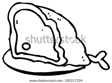 meat on plate illustration