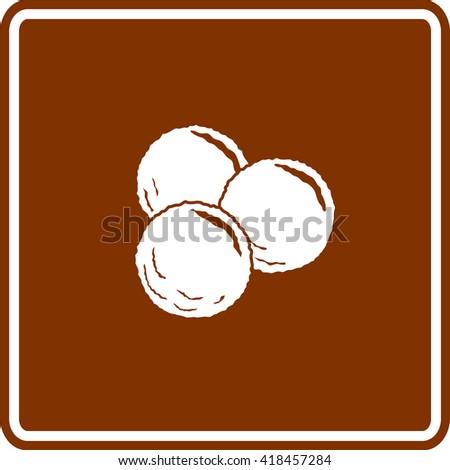 meatballs sign - stock vector