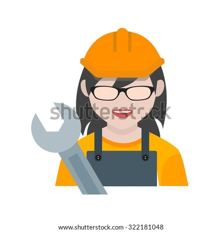 Mechanic, car, female icon vector image. Can also be used for professionals. Suitable for web apps, mobile apps and print media.