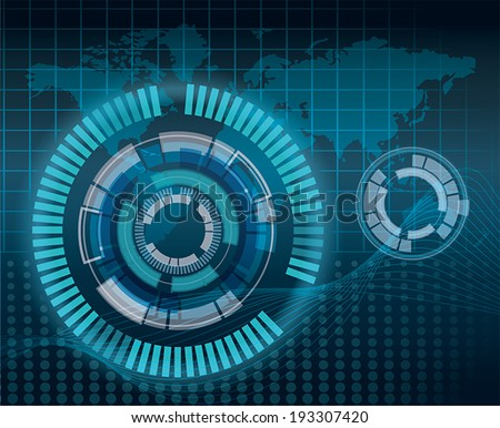 Mechanical abstract background - vector illustration - stock vector