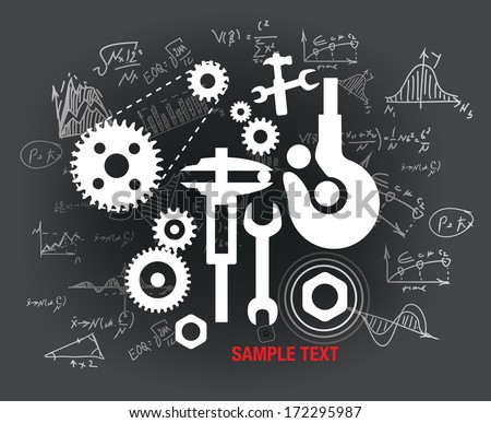 mechanical background vector illustration eps 10