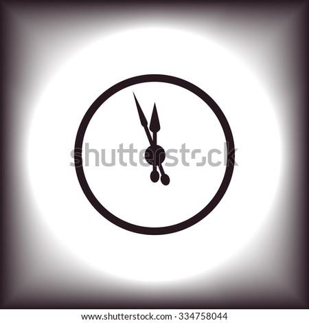 mechanical clock. icon. vector design - stock vector