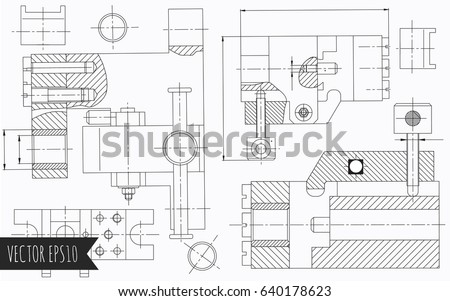 Diagram drawing stock images royalty free images vectors mechanical engineering drawings vector background ccuart Images