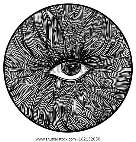 mechanical eye  - stock vector