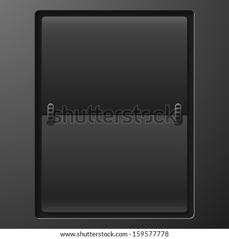 Mechanical Scoreboard - stock vector
