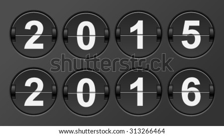 Mechanical scoreboard calendar 2015-2016. - stock vector