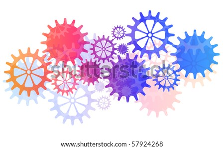 Mechanical Vector Background with Gears and Cogs. EPS10 - stock vector