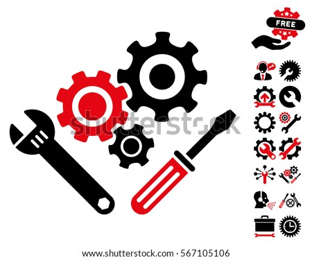 mechanics tools pictograph bonus service clip stock vector 567105106 rh shutterstock com tools clip art black and white tool clipart black and white