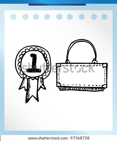 medal cartoon - vector illustration doodle - stock vector