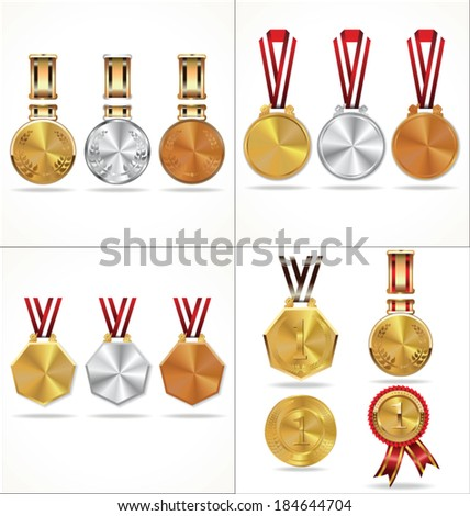 Medal collection - stock vector