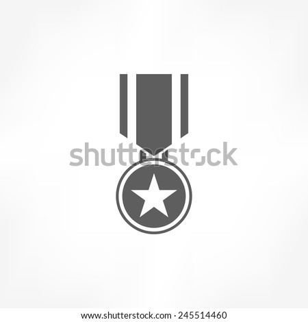 medal icon - stock vector