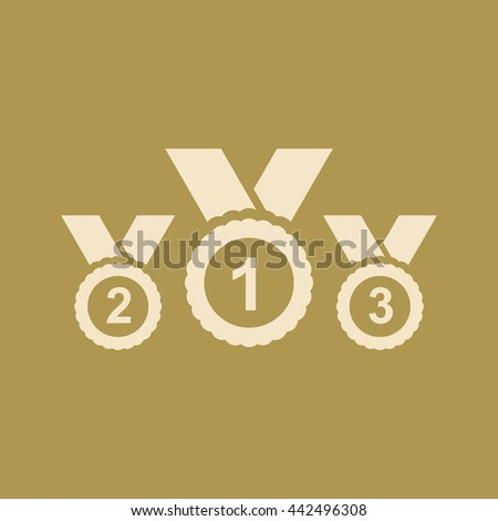 Medal Icon. Eps-10. - stock vector