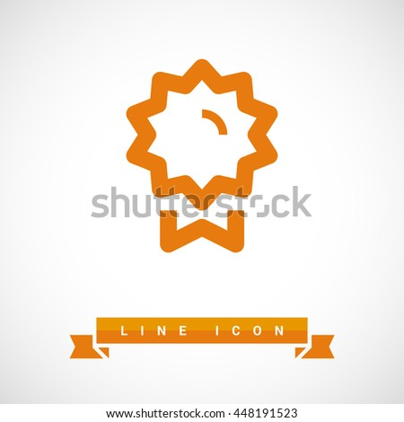 Medal isolated minimal single flat linear icon for application and info-graphic. Award line vector icon for websites and mobile minimalistic flat design.
