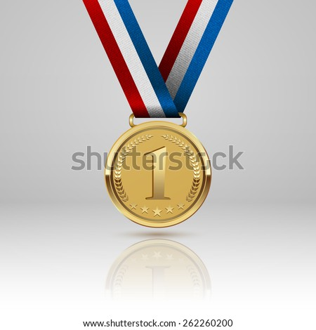 Medal winner. Vector