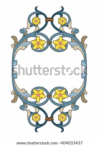 Medallion with stylized flowers