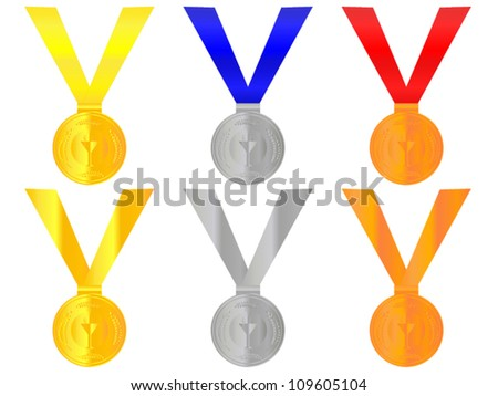 Medals 1 - stock vector