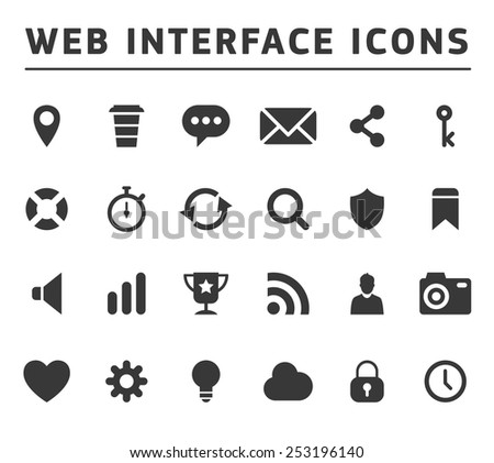Media and communication icons Internet Icons simple style - stock vector