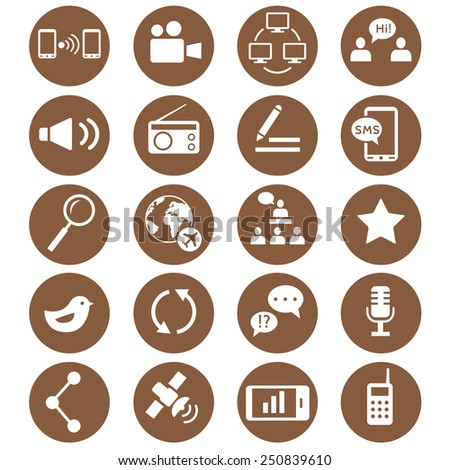 Media and communication icons. Web icons set 2. Vector - stock vector