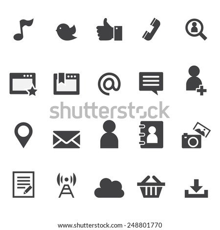 media and internet icon - stock vector