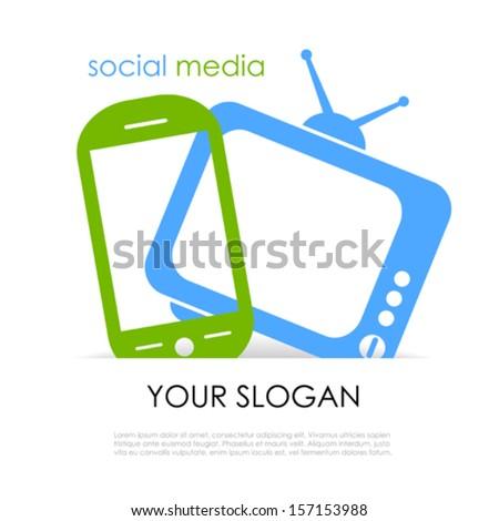 Media flyer design - stock vector