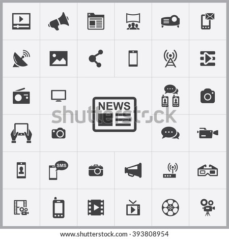media Icon, media Icon Vector, media Icon Art, media Icon eps, media Icon Image, media Icon logo, media Icon Sign, media icon Flat, media Icon design, media icon app, media icon UI, media icon web - stock vector