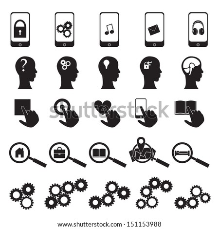 Media Icons Set - Isolated On White Background - Vector Illustration, Graphic Design Editable For Your Design. Media Logo - stock vector