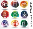 media icons, signs - stock vector