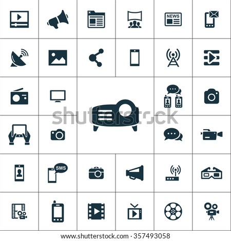 media Icons Vector set. media Icons Symbol set. media Icons Picture set. social media Icon Image set. social media Icons Shape set. social media Icons Sign set  icons universal set for web and mobile