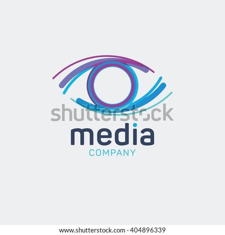 Media Logo Eye Logo Multimedia Logo Stock Vector (Royalty ...