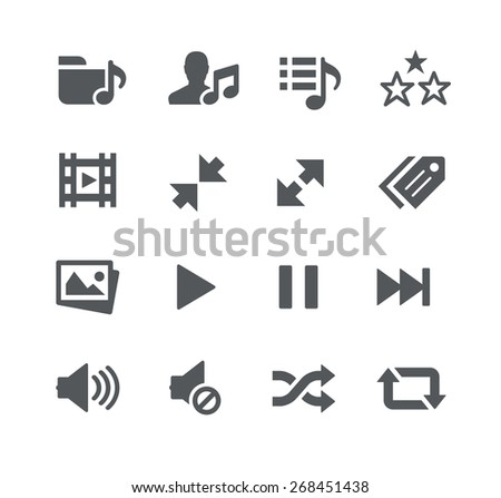 Media Player // Apps Interface - stock vector
