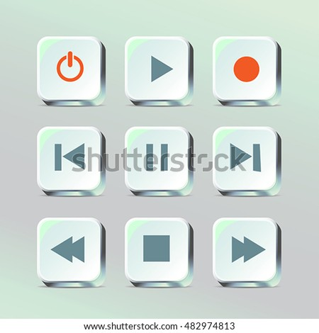 Media player control app buttons color
