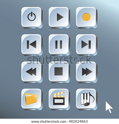 Media player control buttons