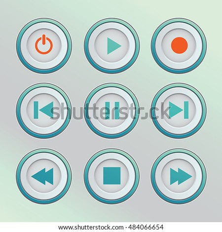 Media player control buttons web