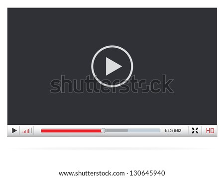 Media Player Design - stock vector