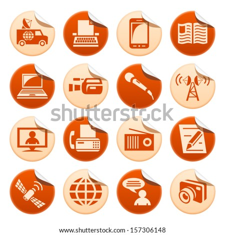 Media stickers - stock vector