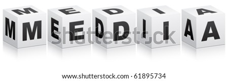 media word - stock vector
