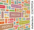 MEDIA. Word collage. Vector illustration. - stock photo