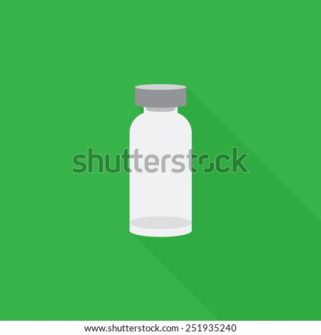 Medical ampoule icon - Vector - stock vector