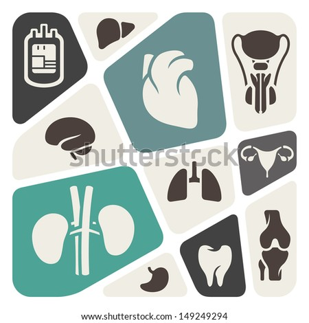 Medical and anatomy theme background - stock vector